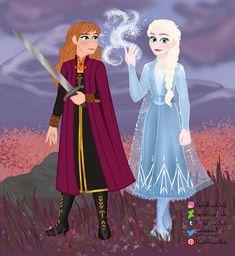 Anna and Elsa Frozen 2 by PuertoRicanBelle on DeviantArt Elsa Frozen, Disney Love, Disney Characters, Fictional Characters, Aurora Sleeping Beauty, Anna, Deviantart, Cartoon, Disney Princess