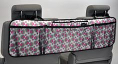 Get it together with this clever pocket organizer. Keep your cargo floor clean of all sorts of loose items. Five handy pockets keep your ride looking nice and organized. Simply hangs around back seat headrest posts. $28 www.mycleverbiz.com/nicole