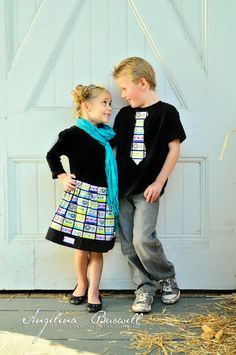 Brother Sister Set  Girl's Twirl Skirt and Boy's by TheMommaFish, $27.00