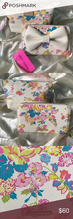 💥NWT Betsey Johnson Floral Cosmetic Bag & Wallet 💥COMBO SALE💥 Both BRAND NEW Betsey Johnson Floral Print cosmetic bag & travel wallet wristlet! Clean, authentic and in EXCELLENT condition! Will ship immediately, get them now❤ Betsey Johnson Bags Clutches & Wristlets