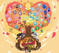 CardCaptor Sakura ~~ AMAZING fanart by BoTTLe :: All of the Clow cards are there, plus everyone's favorite humans, etc. ♥GREAT!♥