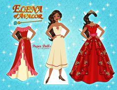 Disney Elena #paperdoll   by Cory Jensen