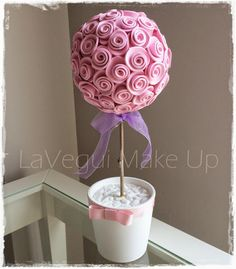 Lavegui Make Up: DIY: Árbol-Bouquet de Flores con Foamy!
