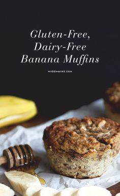 Gluten-free, dairy-free delicious banana muffins