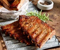 Grilling inspiration! Delicious recipe from Red, White & Barbecue – Whiskey & Black Pepper Ribs with Whiskey Chipotle Glaze
