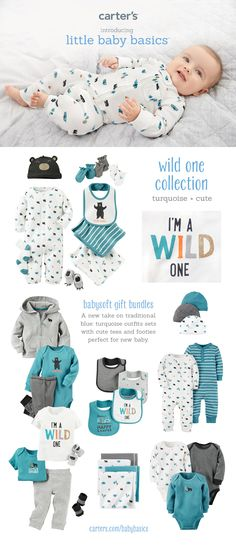New blues. New collection. New little baby basics. Find all your baby boy gifts at carters.com.