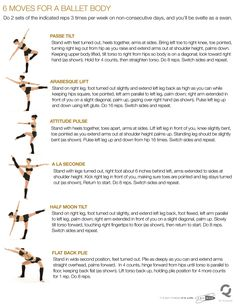"Ballet Fitness - keep in shape ..Haha.. well I definitely used to do most of these in ballet so no wonder they would create a ""ballet body""                                                                                                                                                      More"