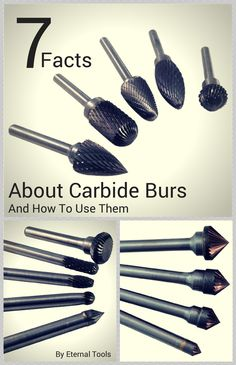 7 facts About Tungsten Carbide Burs and how t use them. Tungsten Carbide burrs can be used on: all metals, stone, ceramic, porcelain, hard wood and reinforced plastics.Great for engraving, carving, shaping and cutting. They come in many different shapes, sizes and with different cuts such as single cut flutes and double cut flutes. This article explains all.