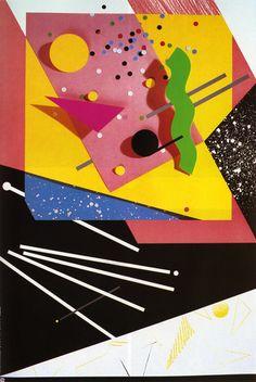 c86:  April Greiman - Poster for Warner Records, 1982 via AIGA...
