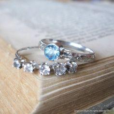 Blue Topaz Gemstone ring Handmade Promise Ring by jorgensenstudio, $54.00 (idea)
