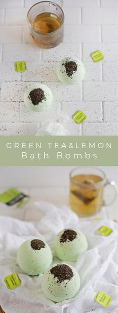 Green Tea and Lemon Bath Bombs – A Beautiful Mess