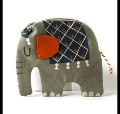 Elefanten-Portemonnaie als Geldaufpasser / elefant wallet, accessory by käselotti via DaWanda.com