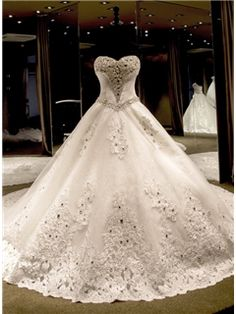 Ericdress Gorgeous Sweetheart Beading Cathedral Train Wedding Dress