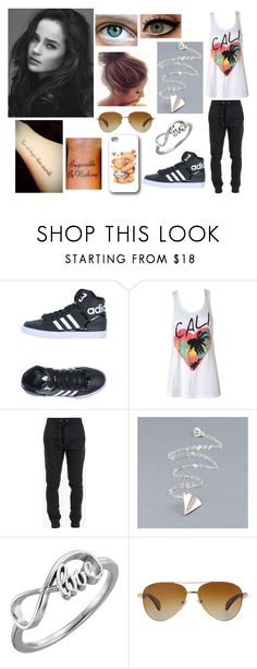 """Eleiya Walker #4"" by kneinke ❤ liked on Polyvore featuring adidas Originals, Balmain and Bulgari"