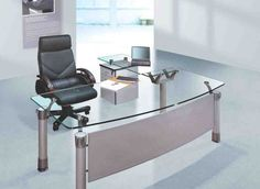 Spacious Office Furniture Design With Modern Desk throughout Modern Home Office Glass Desk 33606 Modern Office Table, Contemporary Office Desk, Cool Office Desk, Office Table Design, Best Home Office Desk, Office Furniture Design, Modern Desk, Design Desk, Furniture Ideas