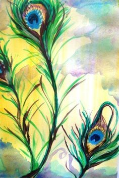 peacock paintings | Watercolor Peacock Painting Peacock by JessicaIllustration on Etsy