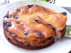 水切りヨーグルトとブルーベリーの簡単チーズケーキ