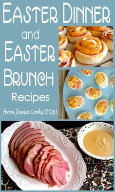 Easter Brunch/Easter Dinner Recipes - Easter Recipes from Jamie Cooks It Up! Informations About Easter Brunch/Easter Dinner Recipes Pin Yo - Easter Dinner Recipes, Easter Appetizers, Brunch Recipes, Appetizer Recipes, Holiday Recipes, Easter Dinner Menu, Holiday Ideas, Easy Easter Desserts, Baking Desserts