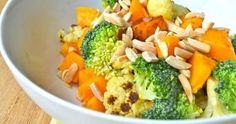 Reteta de salata pentru slabit. Elimina toxinele din corp si te ajuta sa arzi calorii Broccoli, Cantaloupe, Fruit, Vegetables, Food, Essen, Vegetable Recipes, Meals, Yemek