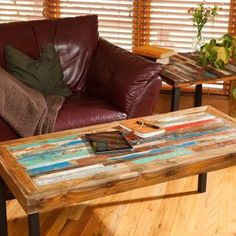 Reclaimed Wood Coffee Table, Teak Coffee Table, Bali Boat Coffee Table For Living Room by John Northrup