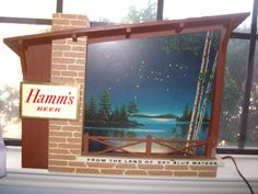 "Vintage "" From The Land Of Sky Blue Waters"" motion Hamm's Beer sign. $1135"