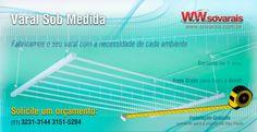 Varal Sob Medida é na Sóvarais.  www.sovarais.com.br/orcamento  Solicite um orçamento:  (11) 3231-3144 3151-5284  Fabricamos o seu varal com a necessidadede cada ambiente.