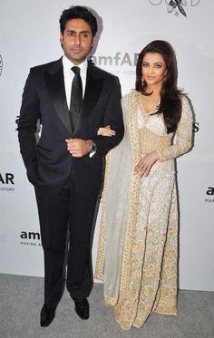 Abu Sandeep cream georgette dress