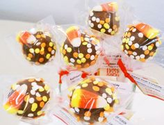Cake Pops Thanksgiving Candy Corn by CakePopFusion on Etsy, $30.00