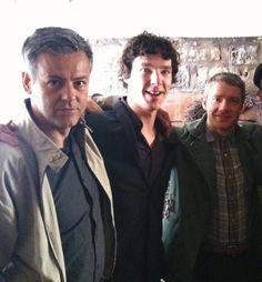 Rupert Graves, Benedict Cumberbatch & Martin