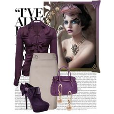 Love...minus the purse...too much purple