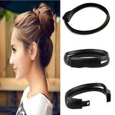 Women French Styling Hair DIY Tool Donut Bun Clip Twist Maker Holder Hair Sticks