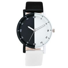Personality Black And White Watch