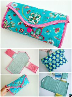 DIY Baby Travel Changing Mat Portable Diaper Clutch Sew Pattern Picture Instructions