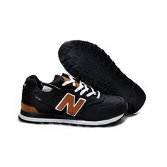 New Balance 574 Women Black Brown Shoes ML574PBK (€46) ❤ liked on Polyvore featuring shoes, new balance, sneakers, new balance footwear, new balance shoes, kohl shoes and black shoes
