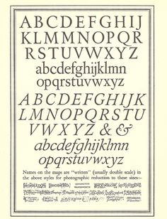 Lettering by Ellis Martin, for use on Ordnance Survey Maps - c1935