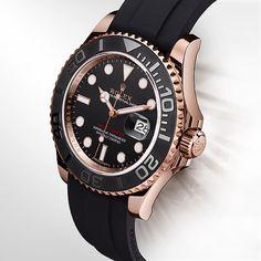 Novo Rolex Yacht-Master, em versão preto e ouro rosa.