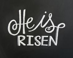 He is Risen - Free chalkboard printable from Little Baby Garvin