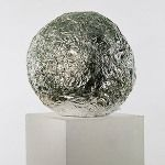 Foil ball to eliminate static in dryer