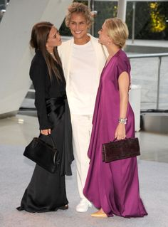 Mary-Kate and Ashley Olsen with Lauren Hutton 2012 CFDA Fashion Awards