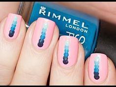 Dotted Ombre Nailart #rimmel #pinkmani #dottedmani #blue #nailart - See more nail looks at bellashoot.com & share your faves!