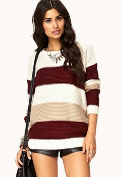Colorblocked Dropped Shoulder Sweater | FOREVER 21 - 2000050020