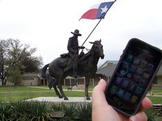 Re-pinned from @Sarah Page - My Traveling iPhone visits the Texas Ranger Hall of Fame in Waco, TX.