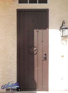 Texas Star Wrought Iron Security Door - SD0277A