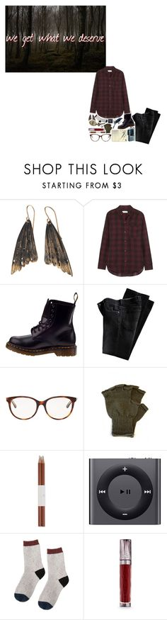 """""""Driving Home Through The Darkness"""" by alphagamma19 ❤ liked on Polyvore featuring AURUM by Guðbjörg, Étoile Isabel Marant, Dr. Martens, Moleskine, Christian Dior, Faber-Castell, Apple, Urban Decay, Podcast and TANIS"""
