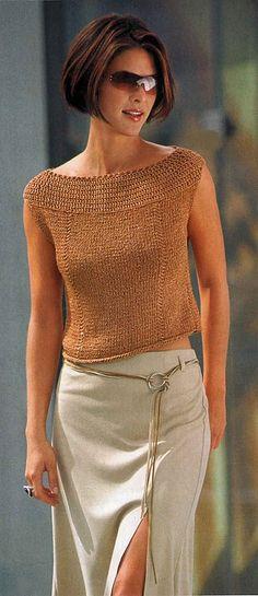 Captivating Crochet a Bodycon Dress Top Ideas. Dazzling Crochet a Bodycon Dress Top Ideas. Crochet Cardigan, Knit Crochet, Diy Pullover, Summer Knitting, Crochet Summer, Stylish Tops, Crochet Clothes, Knitting Patterns, Free Knitting