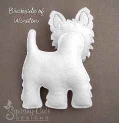 Perro patrón de costura PDF - West Highland Terrier Animal relleno fieltro…