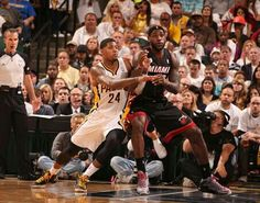 Paul George (Indiana Pacers) and Lebron James