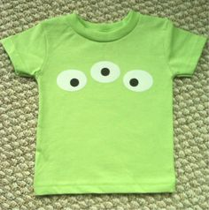 Toy Story Themed Alien Eye Costume...add a green black and white tutu!