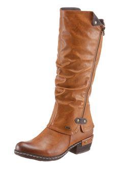 #RIEKER Damen Stiefel mit Tex-Ausstattung braun         #Modeonlinemarkt.de