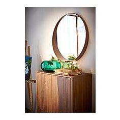 IKEA - STOCKHOLM, Speil, , Kommer med sikkerhetsfilm - minsker risikoen for skader om glasset knuses.Rammen er bredere under speilet og danner en liten hylle som du kan legge sminke, mobiltelefon eller lommebok på.Passer i de fleste rom og er testet og godkjent for bruk i baderom.De tydelige årringene i valnøttfineren gir hvert møbel et unikt utseende.Valnøttre er et naturlig, slitesterkt materiale. Overflaten er gjort enda mer slitesterk av et beskyttende lag med lakk.